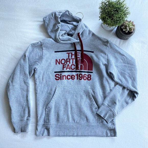 The North Face Other - North Face Sweatshirt (grey + maroon)